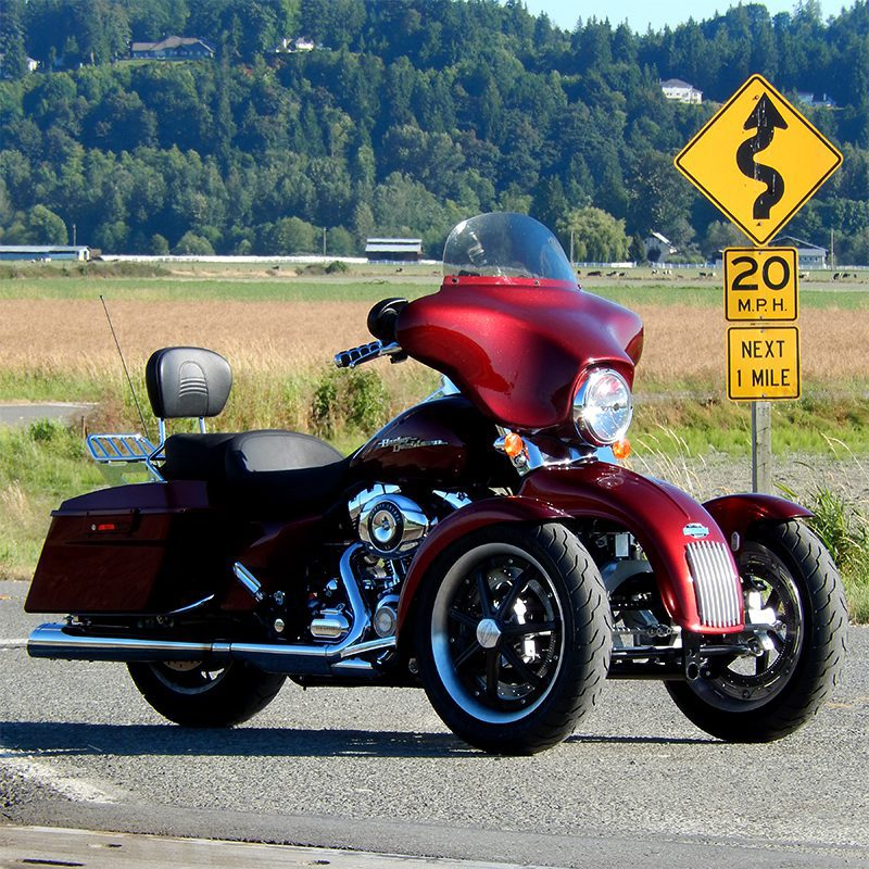 Tilting Motor Works Harley with Tilt Lock San Juans